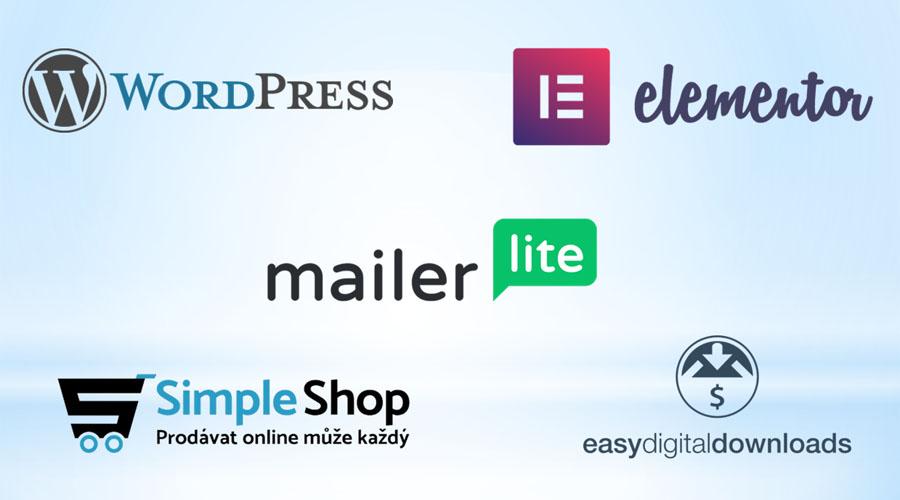 Cena tvorby webu: WordPress, Elementor, MailerLite, SimpleShop